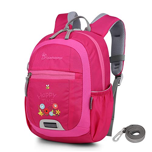 Mountaintop Kids Toddler Backpack,8.7 x 3.7 x 12.2 in (Rose Red6031A)