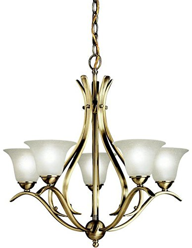 Chandelier 5-Light, Antique Brass ()