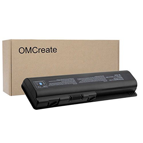 OMCreate Battery for HP CQ61 CQ40 CQ45 CQ50 CQ60 CQ70, G60 G50 G61 G71, G60-235DX G60-230US G60-120US G71-340US CQ60-615DX, Fits P/N EV06 498482-001 484171-001 497694-001 (1002au Battery)