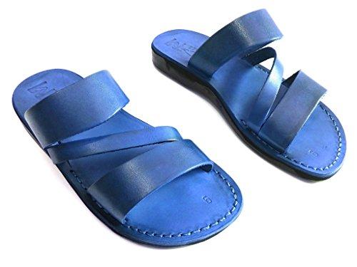 Leren Sandalen Voor Heren Te Koop Flip Flops Grieks Mooi Comfortabel 11 Kleuren Griekenland Stijl Van Sandalim Blauw