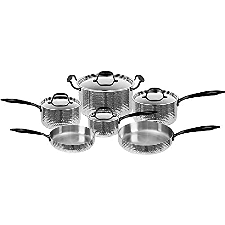 Fleischer Wolf Seville Series 10pc Set Stainless Steel Cookware Set