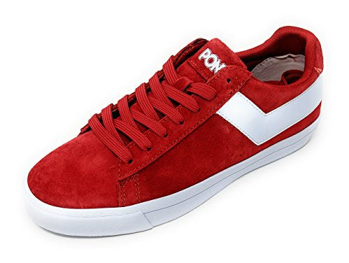 Sneaker M Red Pony Suede Top Lo 10 Womens Core White Star xxZA6pq
