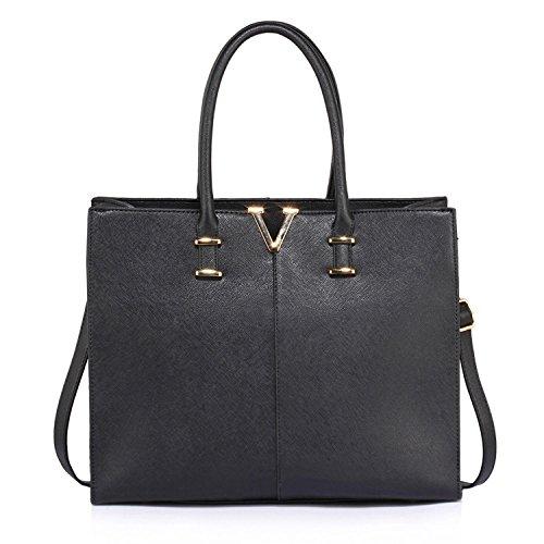 Shoulder Tote Women Ladies Xardi Bag Leather Handbag 2 Style Laptop Large Designer Patent Black London Faux zxqwR4