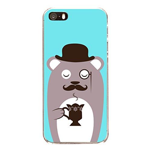 "Disagu SF-sdi-4558_1135#zub_cc6486 Design Schutzhülle für Apple iPhone SE - Motiv ""Kaffeebär braun"""