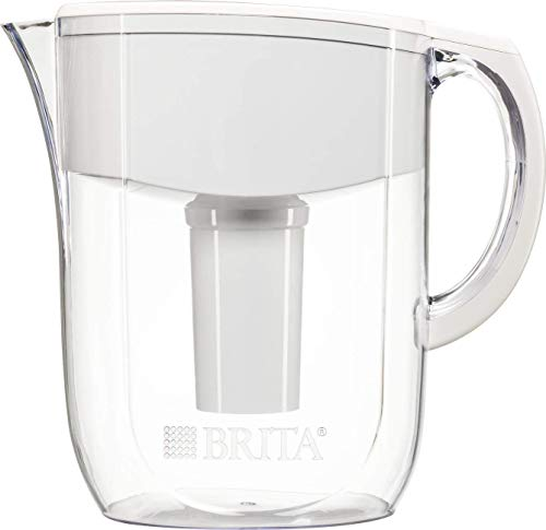 Brita Large 10 Cup Water Filter Pitcher with 1 Standard Filter, BPA Free – Everyday, White (2-Pack)