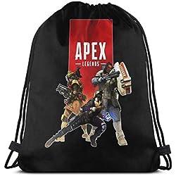 Vixerunt Apex-Legends-Becoming-A-ChampionDrawstring Bags Drawstring Backpack Sports Gym Beach Bag for Gym Shopping Sport Yoga