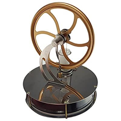 Usmile Low Temperature Stainless Steel Stirling Engine Generator Desk Models Education Toy Model Run Off The Temperature Difference: Toys & Games
