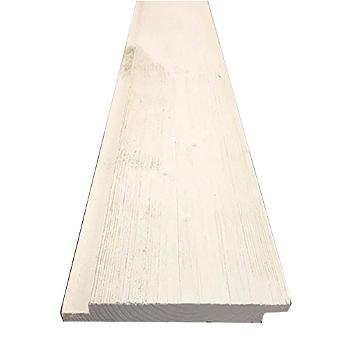 1 in. x 6 in. x 8 ft. Barn Wood Pre-Finished White Shiplap (6 Pieces per Box)