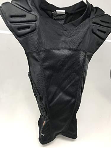 Shock Doctor Shockskin 5-Pad Sleeveless Impact Shirt (Black, Men's -