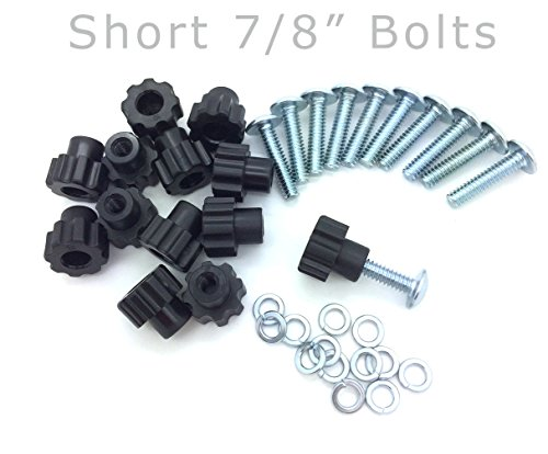 Pet Carrier Bolt Fasteners - Black Nylon Nuts (16 pack, 7/8