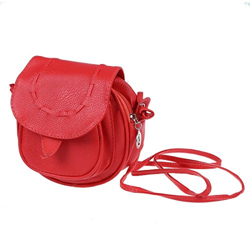 6bd8a395ebff0 ... Handtasche fuer Damen(rot). SODIAL(R) Neue Fashion Messenger Bag Mini  Schulter Beutel PU-Leder Kurier Umhaengetasche