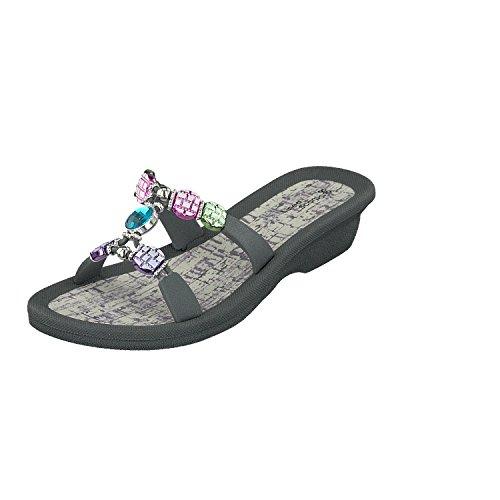 Linea Scarpa KORSIKA Zapatillas baño Sandalias Zapatos informales Mujer con Tacón gris