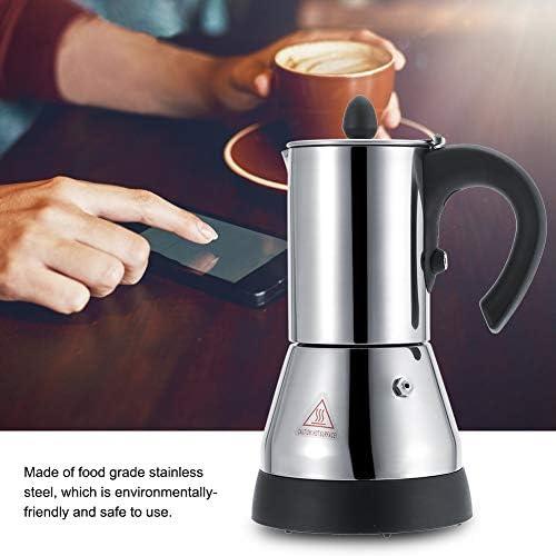 Cafetière Moka électrique, espresso machine cafetière en acier inoxydable pour café 200/300ml Pot à moka Cafetière électrique 220V