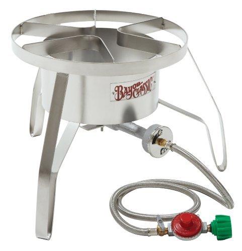 Stainless Steel Turkey Fryer Kit ~ 32 Quart Turkey Fryer Pot - High Pressure Patio Stove with Windscreen