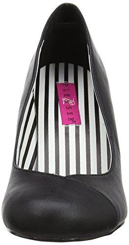 Jenna Pink Faux Leather Chiusa Tacco 01 Bpu col Donna Punta Pleaser Label Scarpe Nero Blk wExqS11d