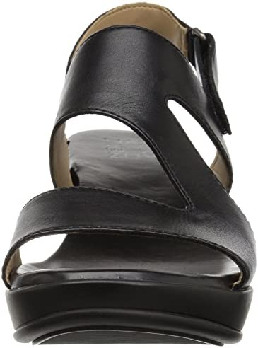 Naturalizer Women's Valerie Wedge Sandal, Black, 4 Medium US