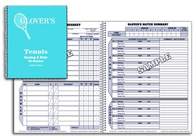 Glovers Scorebooks Tennis Short Form Scorebook (30 Matches) Glovers Scorebook
