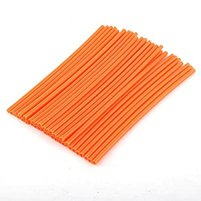 Qiilu 36pcs Wheel Spoke Protector Motocross Rims Skins Covers Off Road Motorcycle Guard Wraps Kit [Orange]: Industrial & Scientific