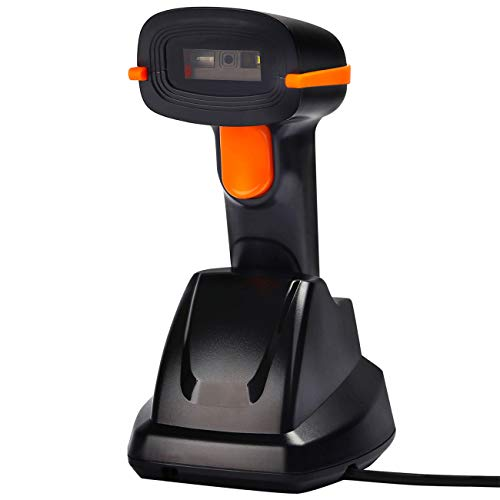 Tera Wireless Barcode Scanner 1D 2D with USB Cradle Charging Base Handheld Bar Code Reader Scanner Automatic Sensing Fast Precise Scanner