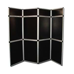 Pared plegable negro plegables eventos ferias divisor de pantalla biombo aprox. 2,10m x 2,40m