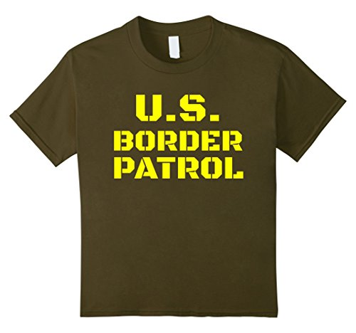 Kids Border Patrol costume T Shirt 10 Olive