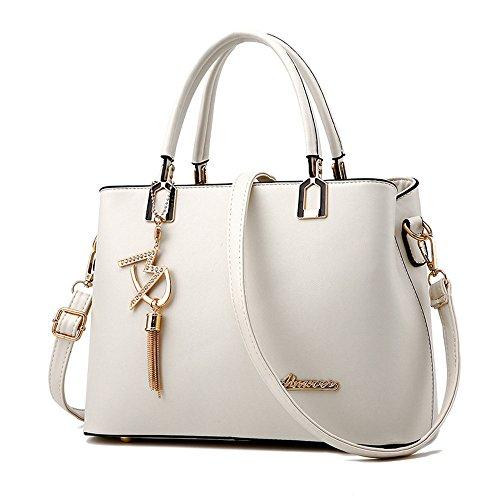 Back W JVPS18 Women's Overseas 2018 Messenger Handbag and All Popular Colors Celebrity Bag Cute European Shoulder New pu Fashion Waterproof Commuter 6 Bag American Bag White Handbag RRrqBdwtx