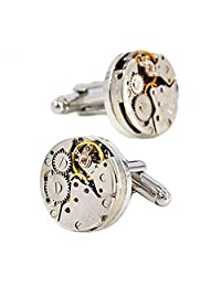 Merit Ocean Movement Cufflinks Steampunk Watch Mens Shirt Vintage Watch Cuff Links
