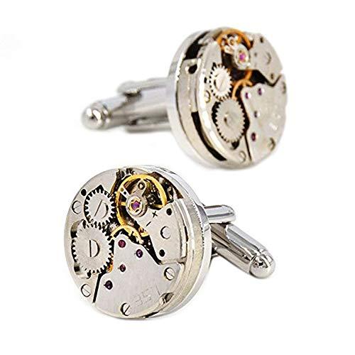 (MERIT OCEAN Movement Cufflinks Steampunk Watch Mens Shirt Vintage Watch Cuff Links Business Wedding Gifts)