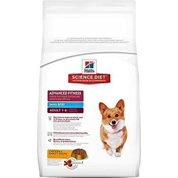 Hill's Science Diet Adult Advanced Fitness Small Bites Chicken & Barley Recipe Dry Dog Food, 5 lb bag