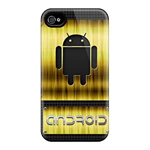 New Diy Design Android Gold For Iphone 4/4s Cases Comfortable For Lovers And Friends For Christmas Gifts