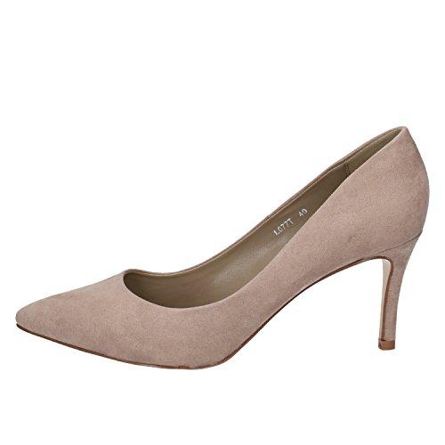 Francesco Milano Zapatos de Vestir de Piel Sintética Para Mujer Beige Beige