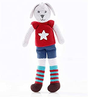 product image for Magic Cabin Hand-Crocheted Bunny Dolls, in Boy