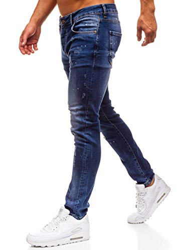 Hombre Slim Vaquero Pantalón BOLF 6F6 Estilo Fit Clubwear Diario Azul 8023 dqBCSw