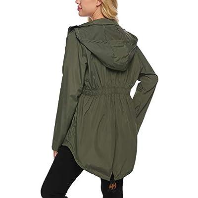 Beyove Women's Rain Jacket Waterproof Hooded Lightweight Active Outdoor Raincoats: Clothing