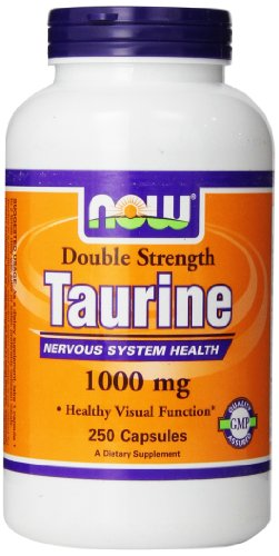 Taurine, Double Strength, 1000 mg, 250 Capsules