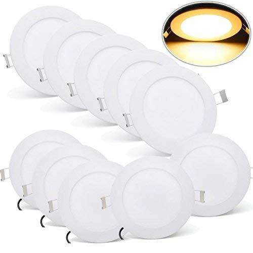 MYHOO 10 Stück LED Einbauleuchte 9W Wohnzimmer Decken Leuchte Lampe Spot Strahler Set 3000-3500K Warmweiß 85-265V AC IP44 [Energieklasse A+]