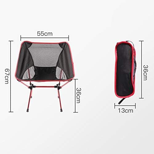 Chaise Longues Chaise De Camping Poids Léger Respirant Pliant Compact Portable Moon Chair Festival Plage Siège De Pêche, Rouge