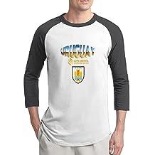 Uruguay National Football Team Mens Fans Raglan Sleeves T-Shirt