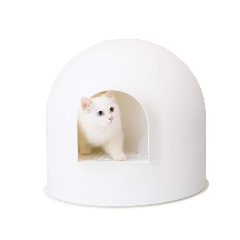pidan Studio Snow House Igloo Cat Litter Box, Red Dot Design Award Winner, White by pidan