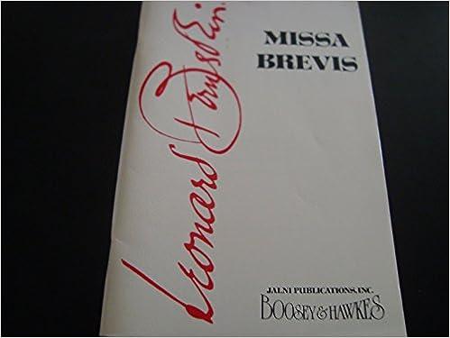 Vapaa lataus ipod-äänikirjoista Missa Brevis / Vocal Score / Leonard Bernstein PDF B00UVVVOUI