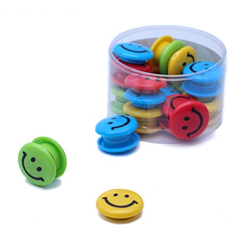Lucky Cion 30mm Smile Whiteboard/Refrigerator Magnet 30pcs/Tub Display-Assorted Colors Photo #3