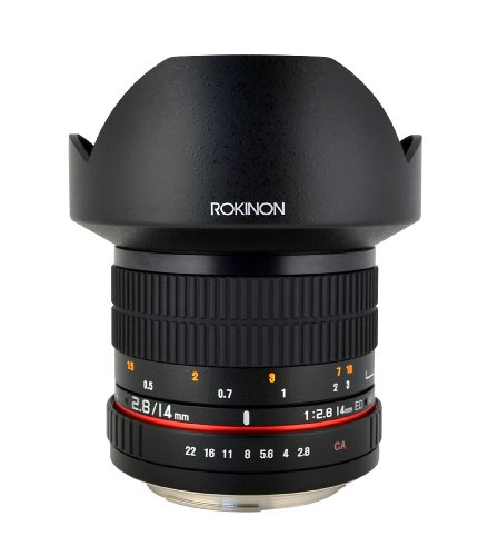 Rokinon FE14M-P 14mm F2.8 Ultra Wide Fixed Lens for Pentax (Black)