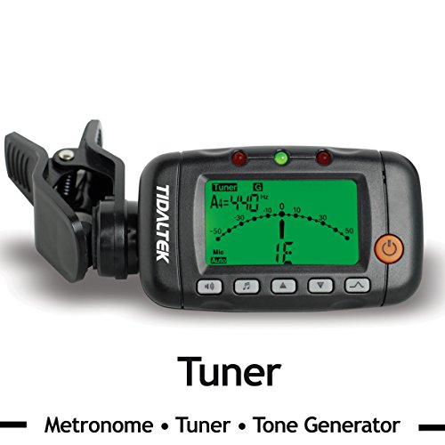 3 in 1 guitar tuner professional clip on tuner metronome and tone generator works with. Black Bedroom Furniture Sets. Home Design Ideas