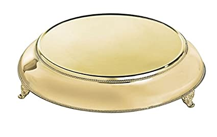 Elegance 89895 Wedding Cake Plate Round Gold  sc 1 st  Amazon.com & Amazon.com | Elegance 89895 Wedding Cake Plate Round Gold: Cake Stands