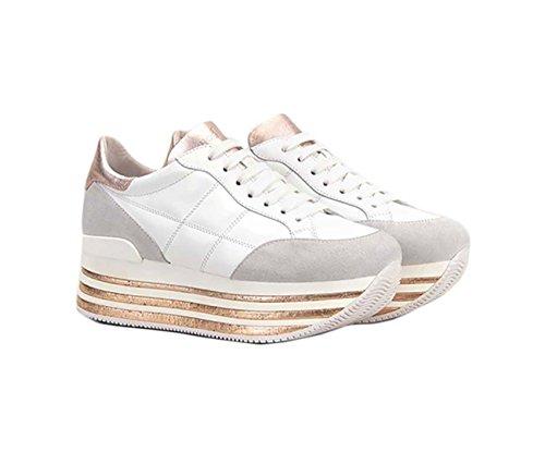 Hvide Sneakers Maxi H222 Af Læder, Damer.