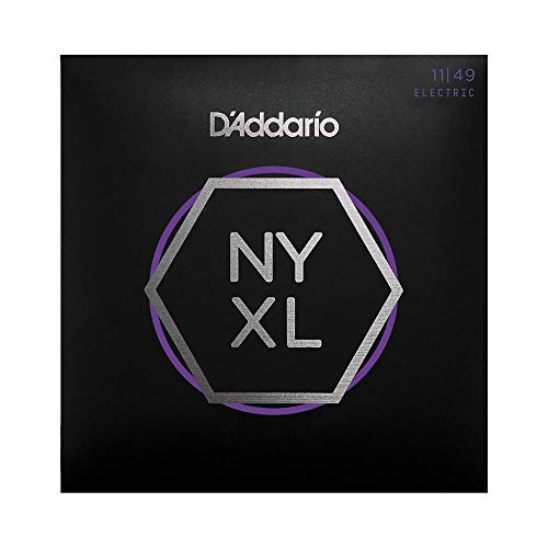 D'Addario NYXL1149 Nickel Plated Electric Guitar Strings, Medium,11-49 – High Carbon Steel Alloy for Unprecedented Strength – Ideal Combination of Playability and Electric Tone