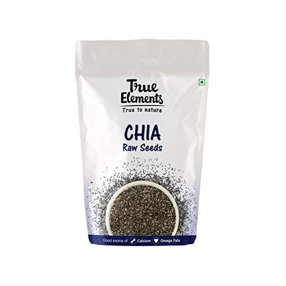True Elements Raw Chia Seeds for Weight Loss 250gm - Calcium Rich Seeds
