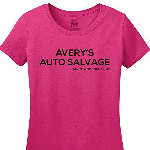 (Avery's Auto Salvage Women's Cyber Pink Medium Tee)