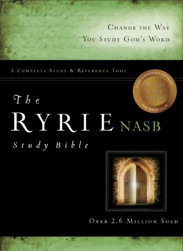 The Ryrie NAS Study Bible Genuine Leather Black Red Letter (Ryrie Study Bibles 2012)