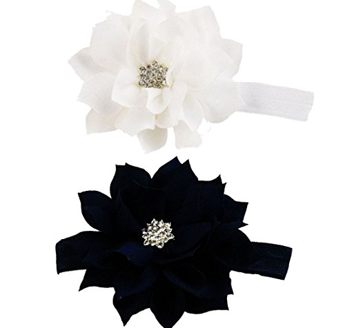 LD DRESS New Girl Baby Headbands (8) (Black+White)
